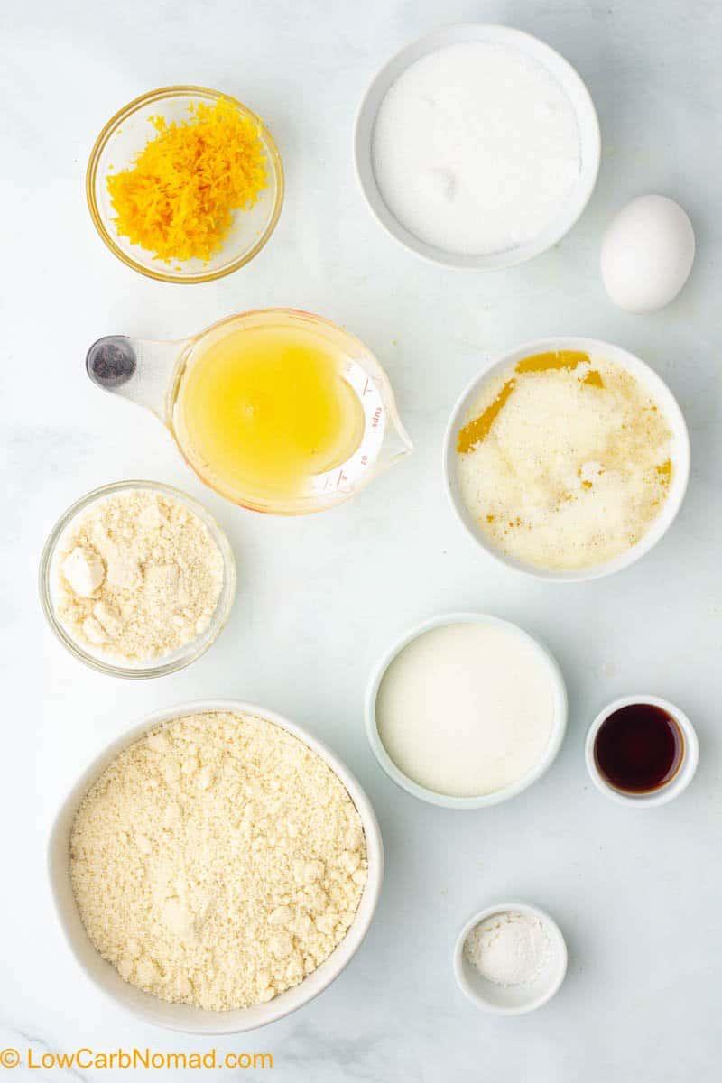 keto lemon bars ingredients