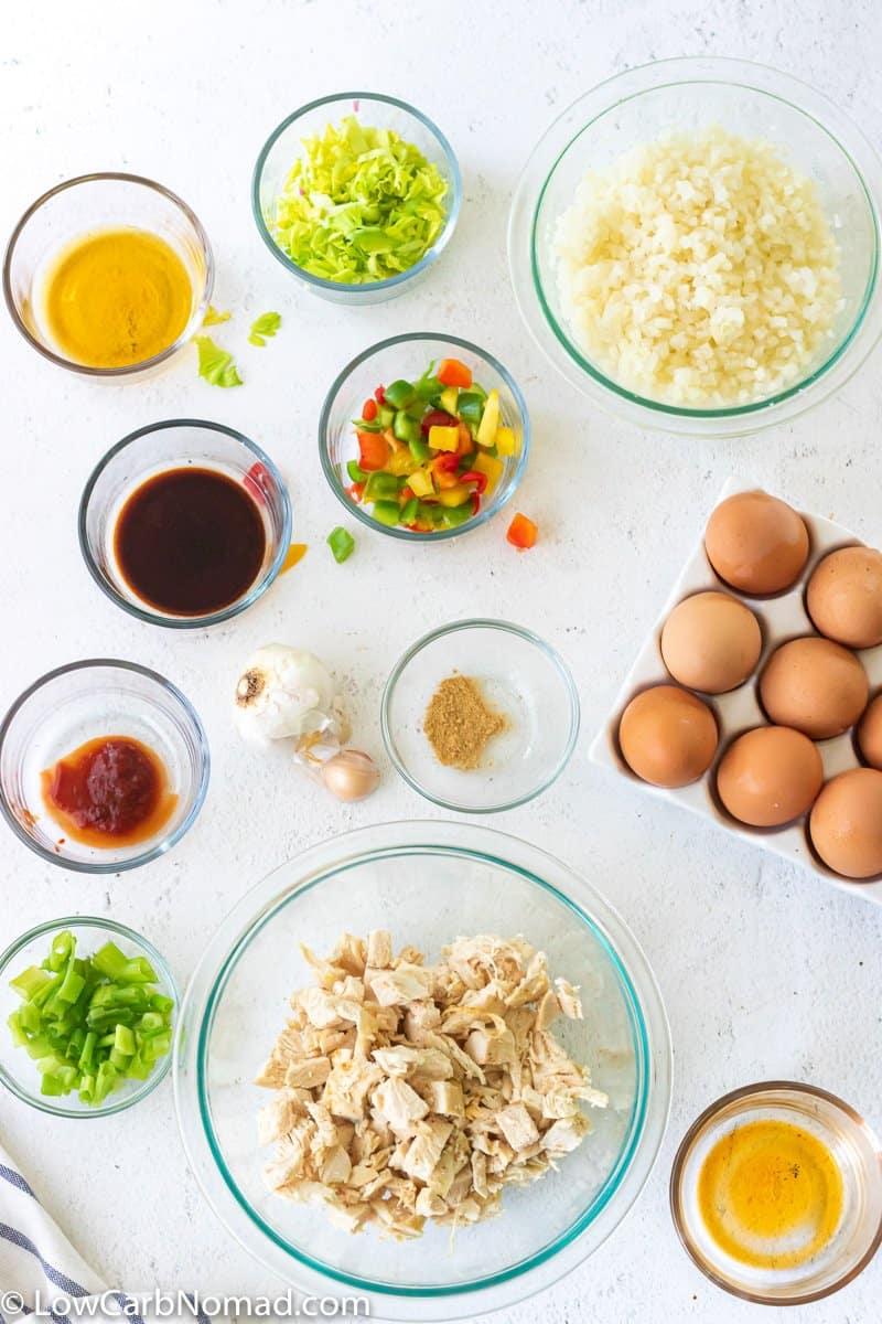 Chicken Fried Cauliflower Rice ingredients
