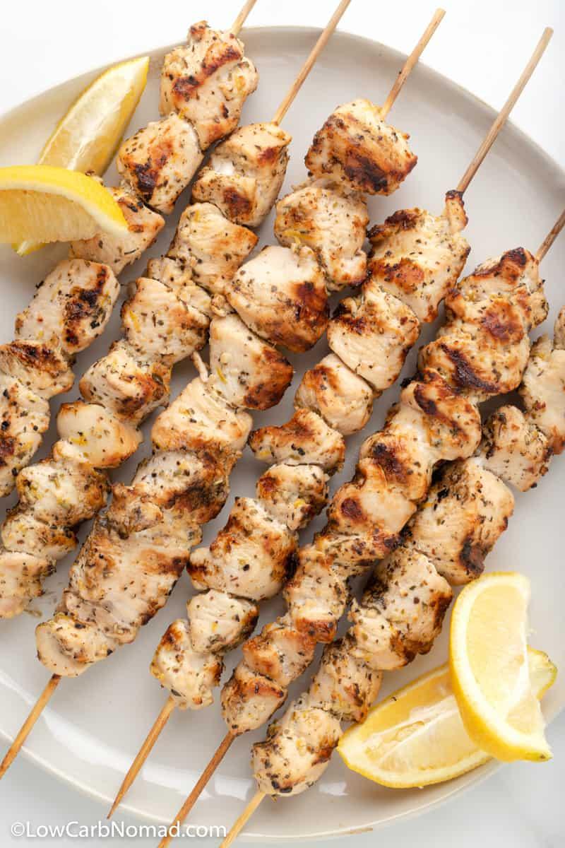 Lemon Garlic Chicken Kabobs