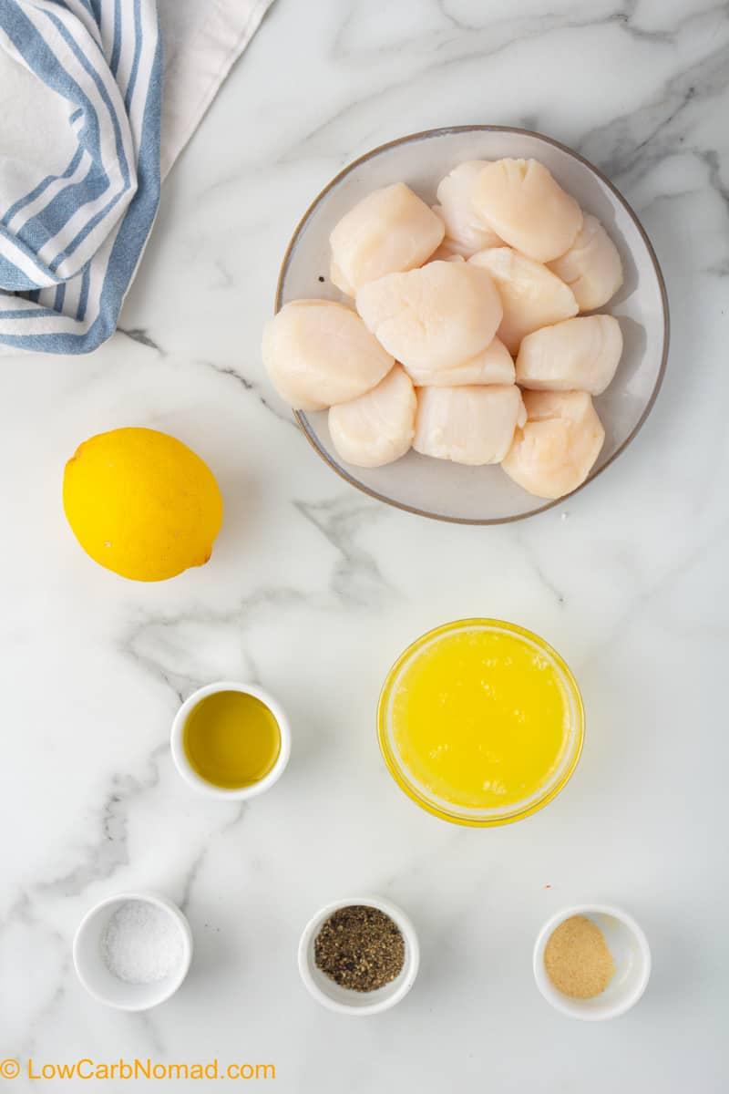 Lemon Garlic Scallops Ingredients