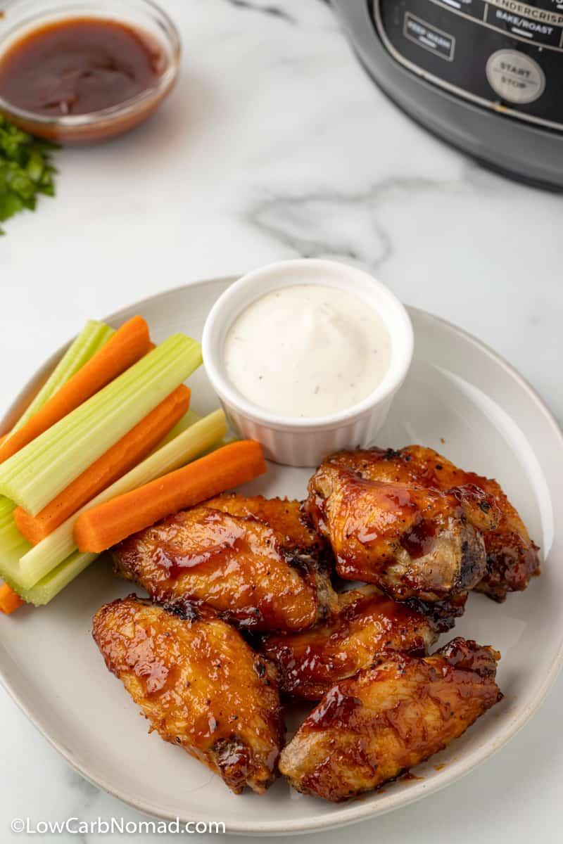 Low Carb Keto Air Fried BBQ Chicken Wings
