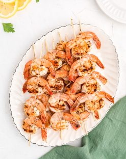 Lemon Garlic Grilled Shrimp Skewers