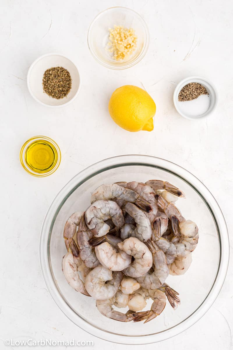 Lemon Garlic Grilled Shrimp Skewers ingredients