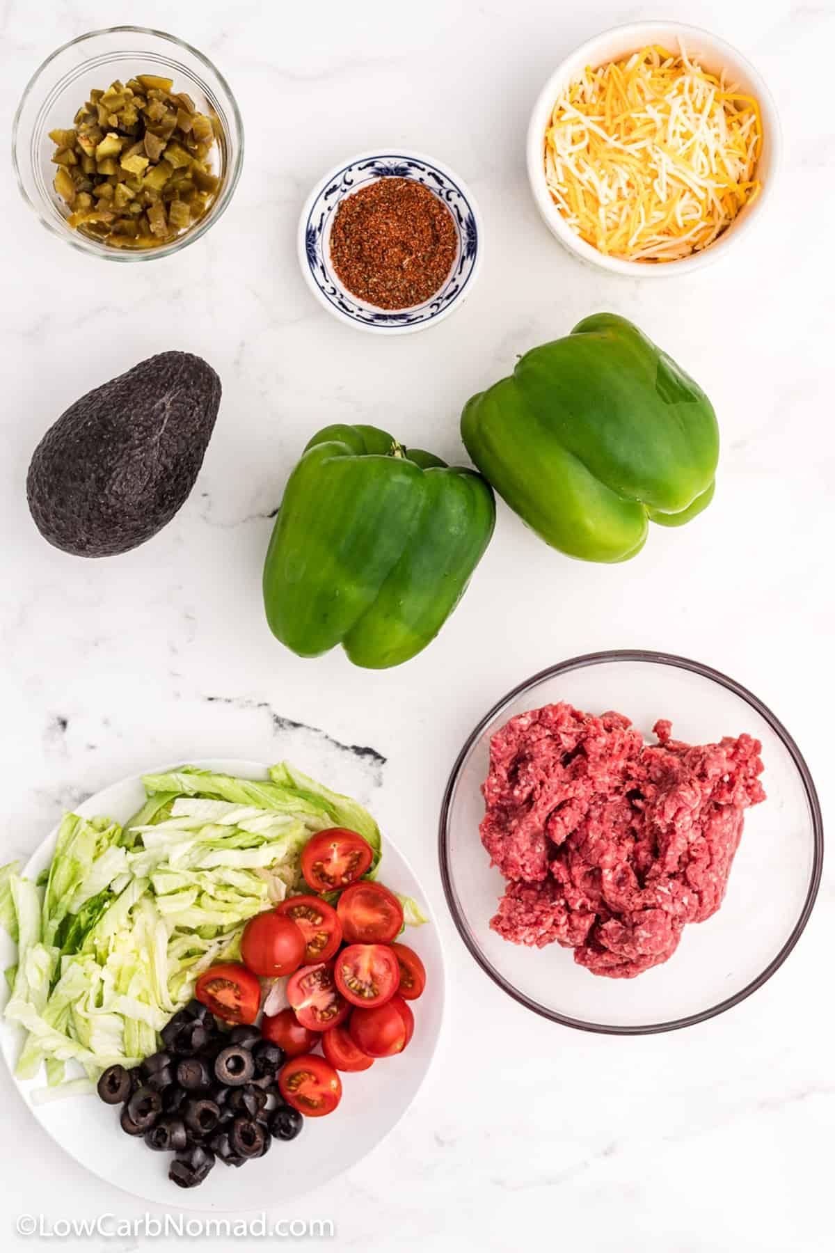Bell pepper nachos ingredients