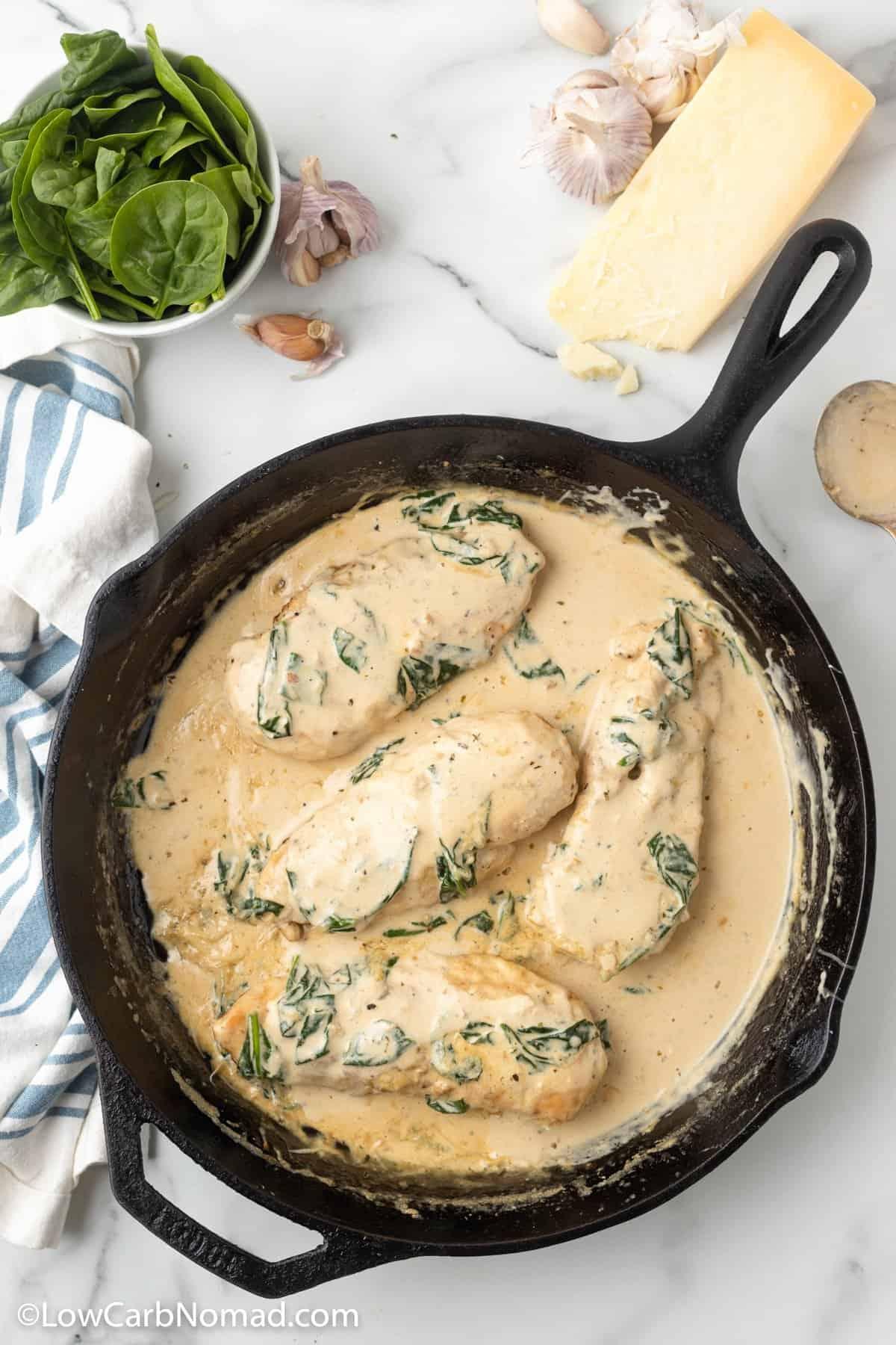 Low Carb Keto Chicken Florentine Recipe